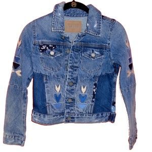 Blank NYC Denim Patch Jacket Girls Size M